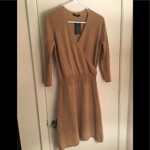 Camel brown Sophia cashmere dress - sz M